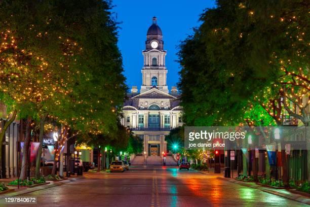 dawn, tarrant county justice, fort worth, texas, america - stock photo - フォートワース ストックフォトと画像
