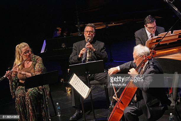Dawn Upshaw and Gilbert Kalish at BAM Harvey Theater on Thursday night September 11 2014This imageFrom left Tara Helen O'Connor Stephen Taylor Fred...