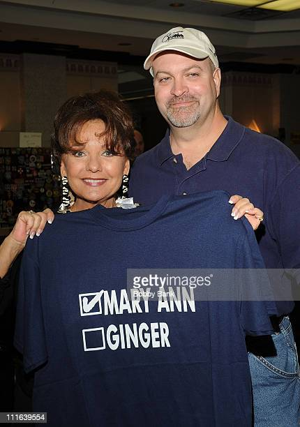 Dawn Wells of Gilligan's Island and fan attends the 2008 Super Megashow and Comic Fest at the Ramada Hotel and Conference Center on December 6 2008...