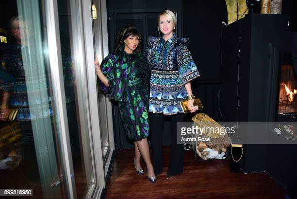 Dawne Marie Grannum and Lana Smith attend Tracy Stern hosts holiday party at private townhouse in Hell's Kitchen at Private Residence on December 14...