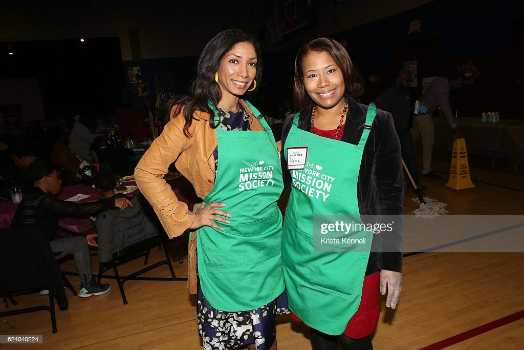 Dawne Marie Grannum and Sophia Bishop attend the Jean Shafiroff & Jay Moorhead Underwrite Annual Community Thanksgiving Dinner at NYC Mission Societyat Minisink Townhouse on November 17, 2016 in New York City.