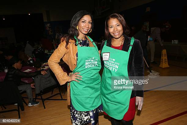 Dawne Marie Grannum and Sophia Bishop attend the Jean Shafiroff Jay Moorhead Underwrite Annual Community Thanksgiving Dinner at NYC Mission Societyat...