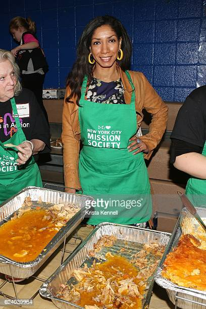 Dawne Marie Grannum attends the Jean Shafiroff Jay Moorhead Underwrite Annual Community Thanksgiving Dinner at NYC Mission Society at Minisink...