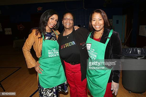 Dawne Marie Grannum Dr Diane Ridley and Sophia Bishop attend the Jean Shafiroff Jay Moorhead Underwrite Annual Community Thanksgiving Dinner at NYC...