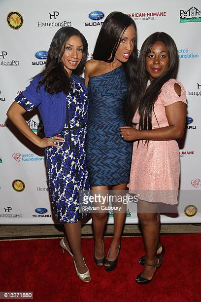 Dawne Marie Grannum Elena Ayot and Vyna St Phard attend Pet Philanthropy Circle's 5th Pet Hero Awards at Gotham Hall on October 7 2016 in New York...
