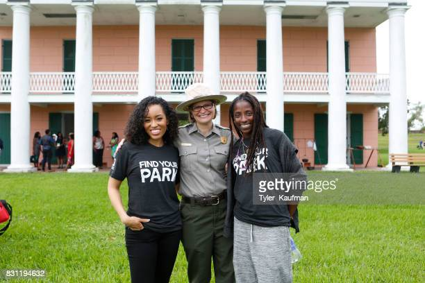 DawnLyen Gardner a National Park Service Ranger and Rutina Wesley attend the National Park Foundation's Parks 101 Experience at The MalusBeauregard...