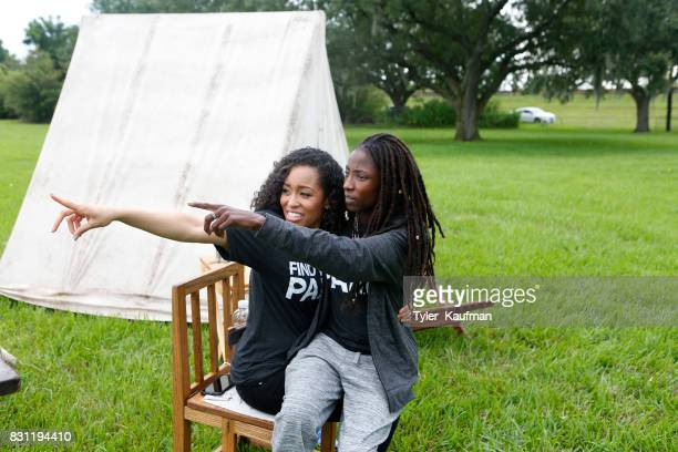 DawnLyen Gardner and Rutina Wesley attend the National Park Foundation's Parks 101 Experience at The MalusBeauregard House at the Chalmette...