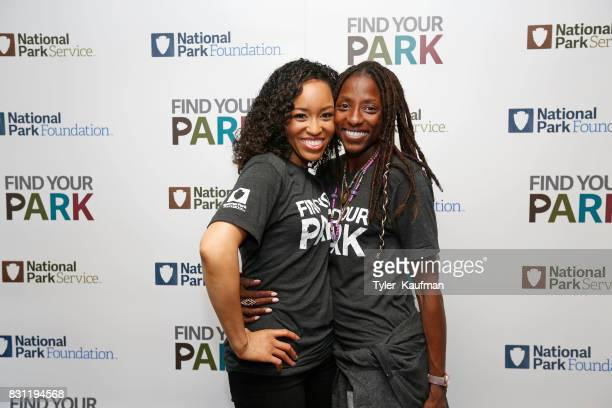 DawnLyen Gardner and Rutina Wesley attend the National Park Foundation's Parks 101 Experience on the Creole Queen Boat on August 10 2017 in Chalmette...