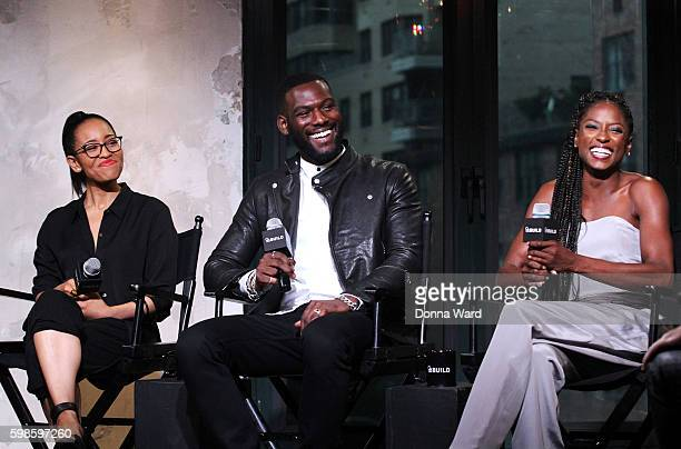 DawnLyen Gardner Kofi Siriboe and Rutina Wesley appear to promote 'Queen Sugar' during the AOL BUILD Series at AOL HQ on September 1 2016 in New York...