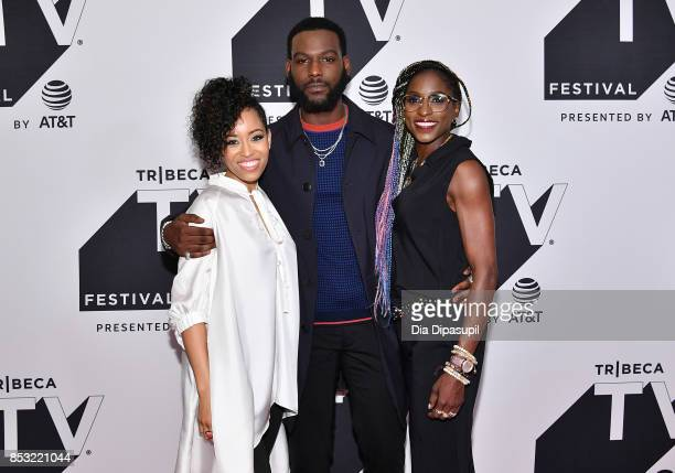 DawnLyen Gardner Kofi Siriboe and Rutina Wesley attend the Tribeca TV Festival midseason premiere of Queen Sugar at Cinepolis Chelsea on September 24...