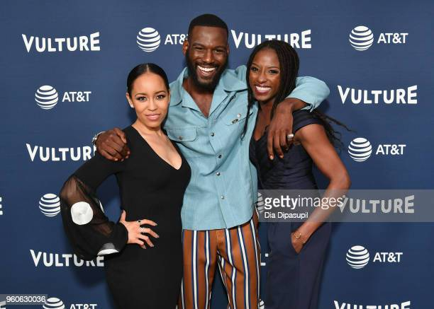 DawnLyen Gardner Kofi Siriboe and Rutina Wesley of Queen Sugar attend Day Two of the Vulture Festival Presented By ATT at Milk Studios on May 20 2018...