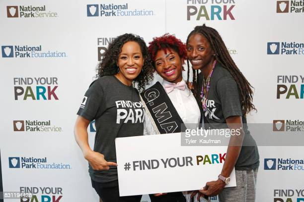 DawnLyen Gardner Terrylyn Dorsey Grand Marshall and Rutina Wesley attend the National Park Foundation's Parks 101 Experience on the Creole Queen Boat...
