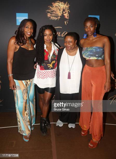 Dawnn Lewis Adrienne WarrenMyra Lucretia Taylor and Mars Rucker pose at a photo call for the new broadway musical Tina The Tina Turner Musical at The...