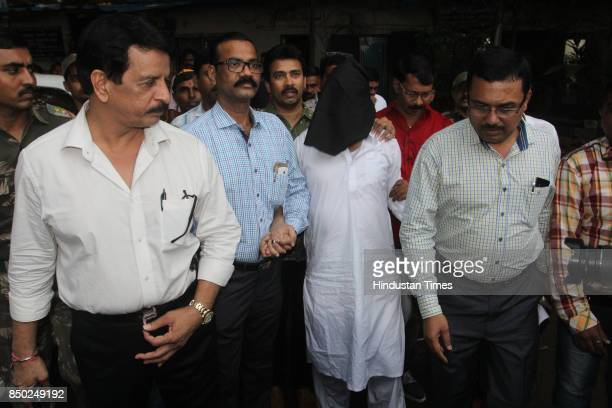 Dawood Ibrahim's brother Iqbal Kaskar produced in Thane court for extortion case on September 19 2017 in Thane India