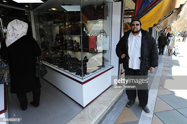 Dawud Salahuddin, an African-American convert to Islam who was born David Theodore Belfield , walks along ValiAsr Street on March 16 in Tehran, Iran....