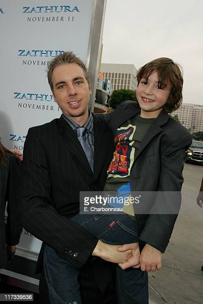 Dax Shepard and Jonah Bobo during Los Angeles Premiere of Columbia Pictures' 'Zathura A Space Adventure' at Mann Village Theatre/Barker Hanger in...