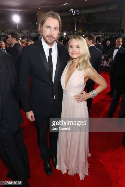 Dax Shepard and Kristen Bell attend Moet Chandon at The 76th Annual Golden Globe Awards at The Beverly Hilton Hotel on January 6 2019 in Beverly...