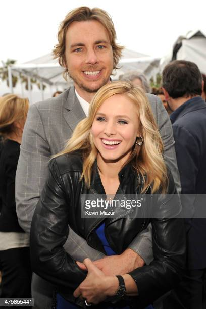 Dax Shepard and Kristen Bell attend the 2014 Film Independent Spirit Awards at Santa Monica Beach on March 1 2014 in Santa Monica California
