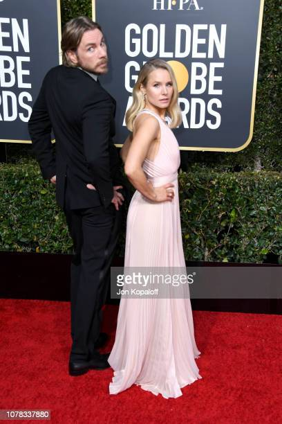 Dax Shepard and Kristen Bell attend the 76th Annual Golden Globe Awards at The Beverly Hilton Hotel on January 6 2019 in Beverly Hills California