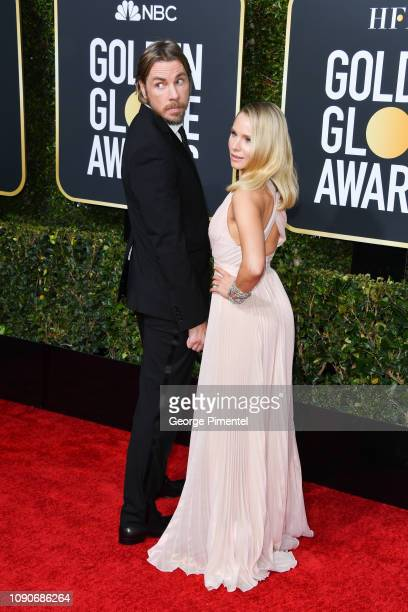 Dax Shepard and Kristen Bell attend the 76th Annual Golden Globe Awards held at The Beverly Hilton Hotel on January 06, 2019 in Beverly Hills,...
