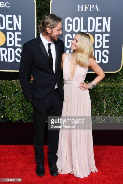 Dax Shepard and Kristen Bell attend the 76th Annual Golden Globe Awards held at The Beverly Hilton Hotel on January 06 2019 in Beverly Hills...