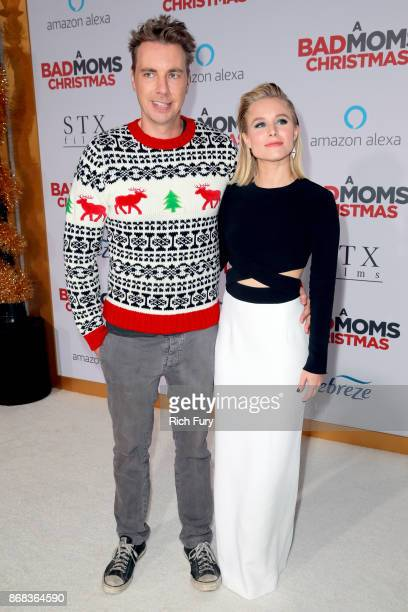 Dax Shepard and Kristen Bell attend the premiere of STX Entertainment's 'A Bad Moms Christmas' at Regency Village Theatre on October 30 2017 in...