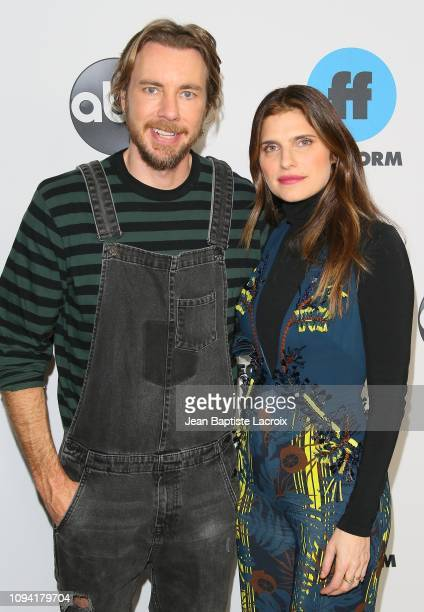 Dax Shepard and Lake Bell attend Disney ABC Television Hosts TCA Winter Press Tour 2019 on February 05 2019 in Pasadena California