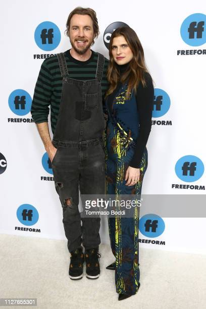 Dax Shepard and Lake Bell attend the Disney ABC Television Hosts TCA Winter Press Tour 2019 at The Langham Huntington Hotel and Spa on February 05...