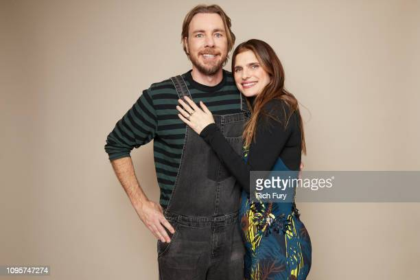 Dax Shepard and Lake Bell of ABC's 'Bless This Mess' pose for a portrait during the 2019 Winter TCA Getty Images Portrait Studio at The Langham...