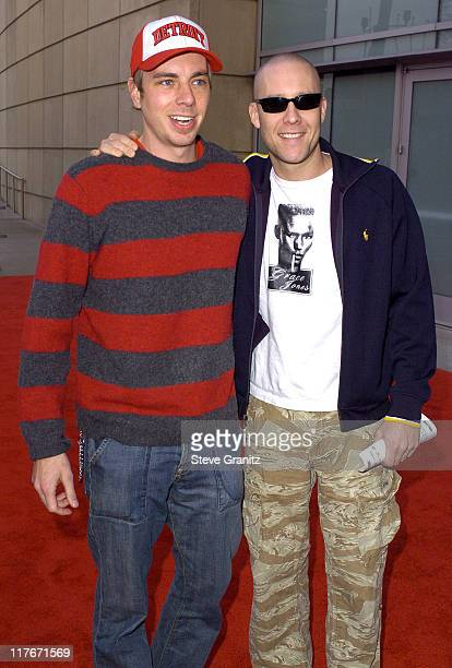Dax Shepard and Michael Rosenbaum during NBA AllStar Game 2004 Celebrity Arrivals at Staples Center in Los Angeles CA United States