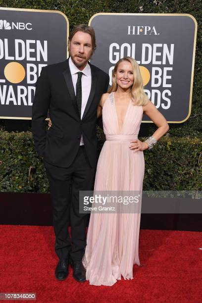 Dax Shepard and wife Kristen Bell attend the 76th Annual Golden Globe Awards at The Beverly Hilton Hotel on January 6, 2019 in Beverly Hills,...