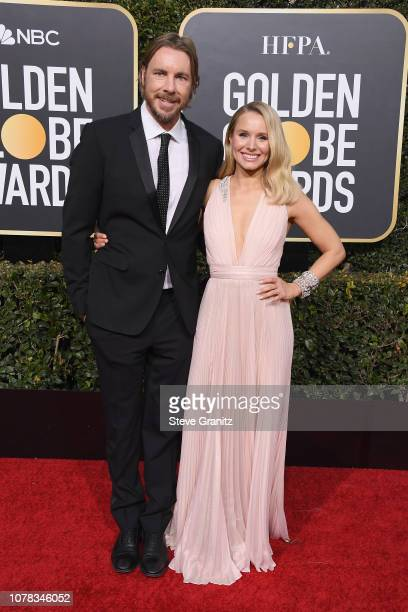 Dax Shepard and wife Kristen Bell attend the 76th Annual Golden Globe Awards at The Beverly Hilton Hotel on January 6 2019 in Beverly Hills California
