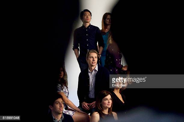 Dax Shepard is photographed behind the scenes of The Hollywood Reporter's Emmy Supporting Actor Portrait shoot at Siren Orange Studios for The...