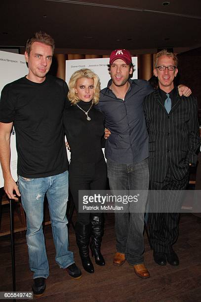 Dax Shepard Jessica Simpson Dane Cook and Andy Dick attend 'Employee of the Month' afterparty hosted by Whiteflashcom at Tenjune NYC on October 4 2006