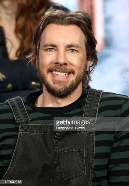 Dax Shepard of the television show 'Bless This Mess' speaks during the ABC segment of the 2019 Winter Television Critics Association Press Tour at...