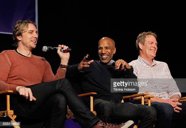 Dax Shepard Ravi Mehta and Rick Schuler attend the 9th annual Film In California Conference at CBS Studios on May 21 2016 in Los Angeles California