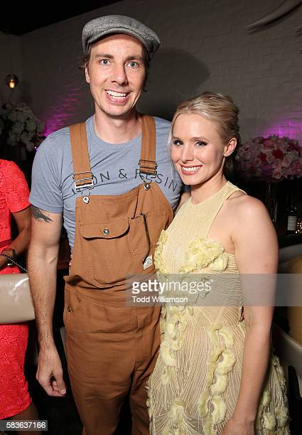 Dax Sheperd and Kristen Bell attend the after party for the premiere of STX Entertainment's 'Bad Moms' at on July 26 2016 in Los Angeles California