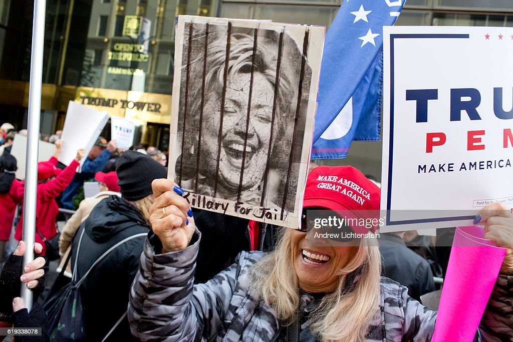Donald Trump Rally in Front of Trump Tower : News Photo