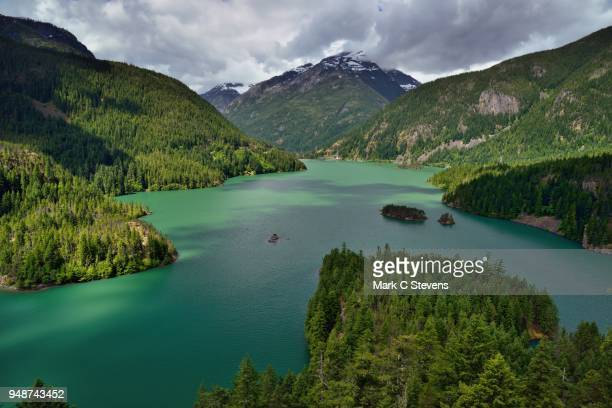 a day after the rains, a beautiful day - diablo lake stock photos and pictures