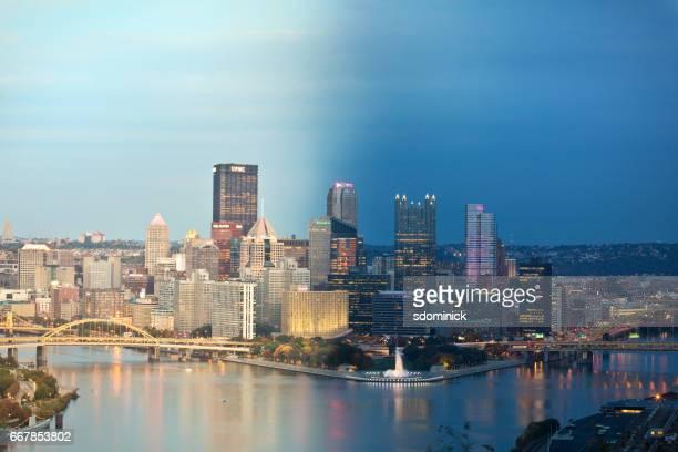 昼と夜ペンシルベニア州ピッツバーグ