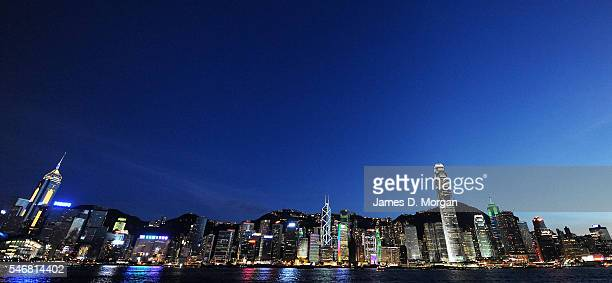 Day and night scenes on Hong Kong harbour on July 31 2008 in Hong Kong China
