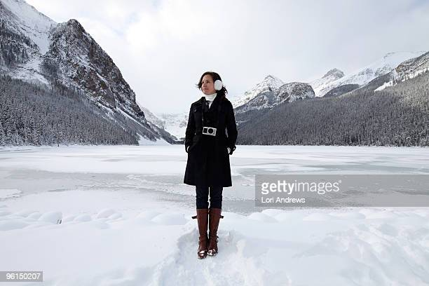 a day at lake louise - lori andrews stock pictures, royalty-free photos & images