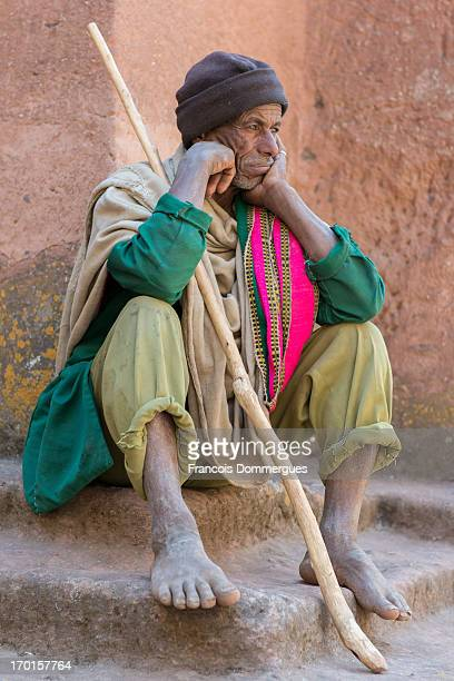 Day before Ethiopian Christmas eve , Lalibela fills up with pilgrims, some of which have traveled several hundred kilometers. With nearly 15m in...