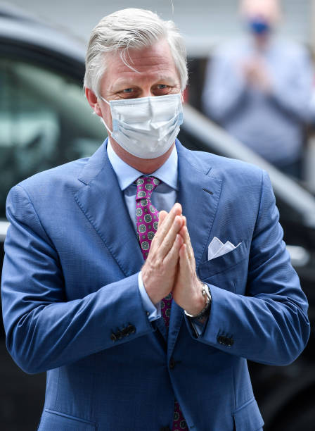 BEL: King Philippe of Belgium Visits Newly Reopened Family Stores