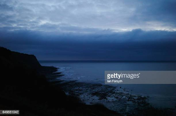 Day breaks over Robin Hood's Bay on the North Yorkshire coast on March 8 2017 in Robin Hood's Bay United Kingdom Robin Hood's Bay is a small fishing...