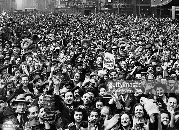 VE Day Celebration in Times Square New York City May 1945