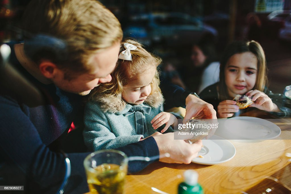 Day in the life of a stay at home dad : Stock Photo