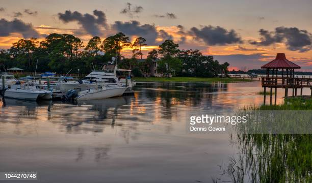 day is done at marina - hilton head stock pictures, royalty-free photos & images