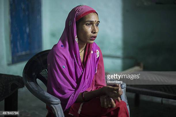 Day laborer Kamlesh sits for a photograph in her home in Lahli village Haryana India on Tuesday Nov 3 2015 After years of volunteering for a union in...