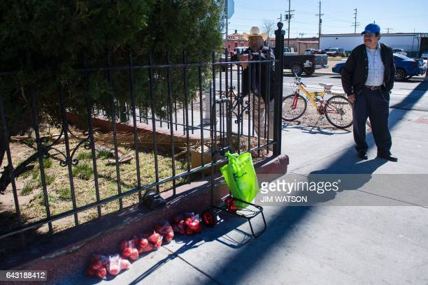 Day laborer stands on the corner waiting for work in El Paso, Texas, next to the Port of Entry near the US/Mexico border on February 20, 2017....